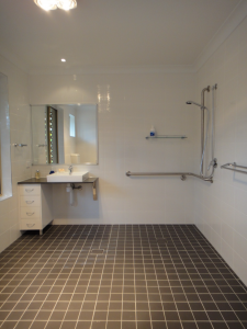 Accessible Bathroom Modification completed by VIP access